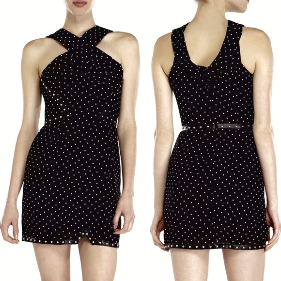 189e43cd3e0 The Kooples Dresses | Black White Polka Dot Crepe Mini Dress | Poshmark